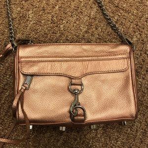 rebecca minkoff rose gold cross body bag